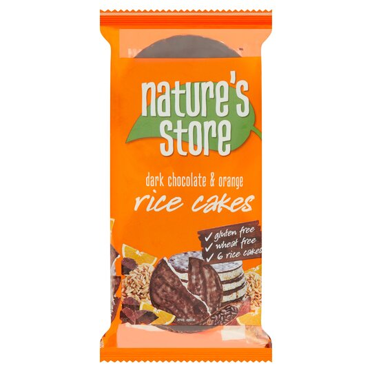 Nature's Store Free From Chocolate Orange Rice Cake 100G