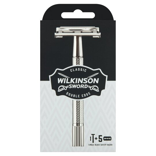 Wilkinson Sword Classic Razor Handle & 5 Blade