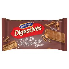 image 1 of Mcvities Digestive Chocolate Slices 5 Pack 128.6G