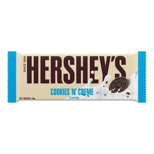 Hershey's Cookie & Creme Chocolate Bar 43G