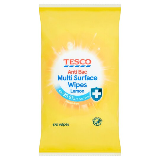 Tesco Citrus Antibacterial Wipes 120'S