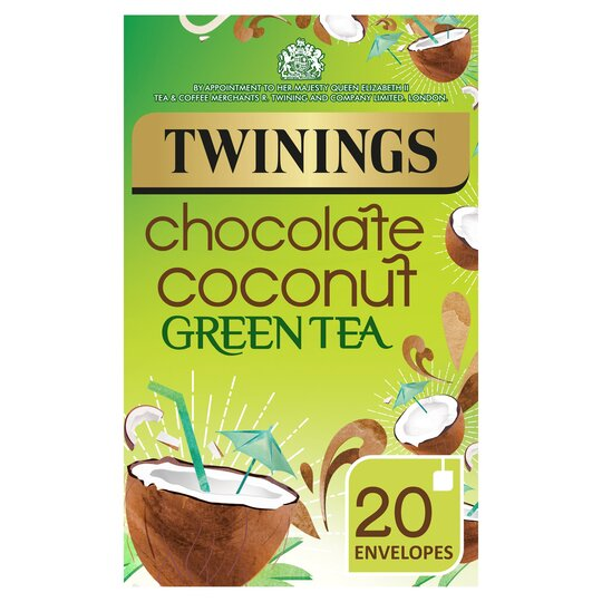 Twinings Green Tea Chocolate Coconut Flavoured 20 Pack 40G