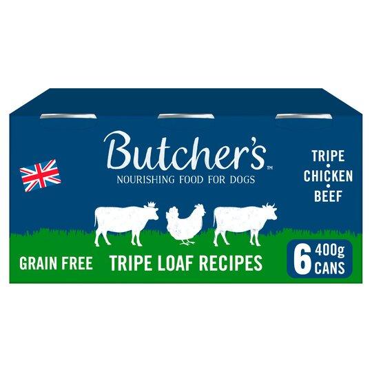 Butcher's Tripe Loaf Dog Food Tins 6X400g