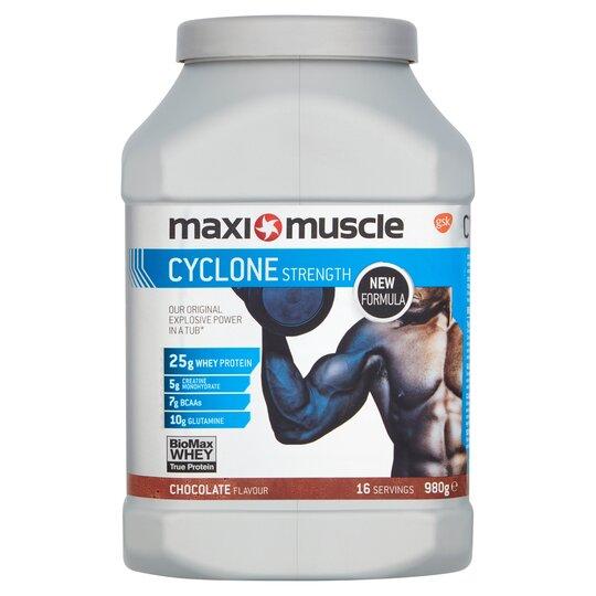 Maximuscle Cyclone Powder Chocolate Tub 980G