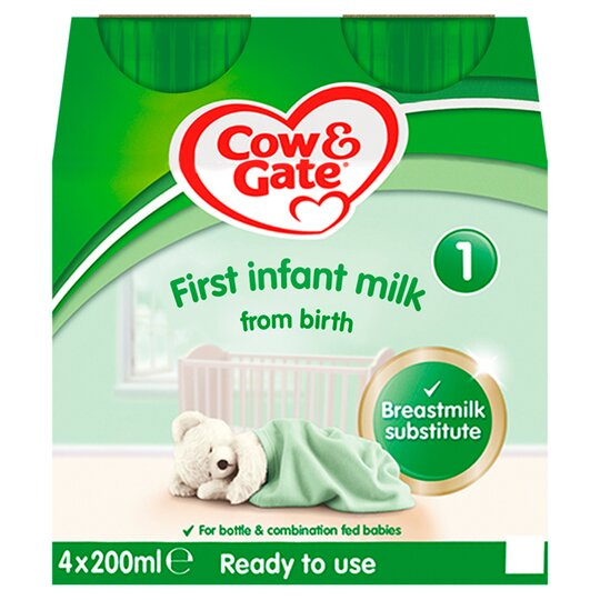 image 1 of Cow & Gate 1 First Milk Multipack 4X200ml Ready To Feed Liquid