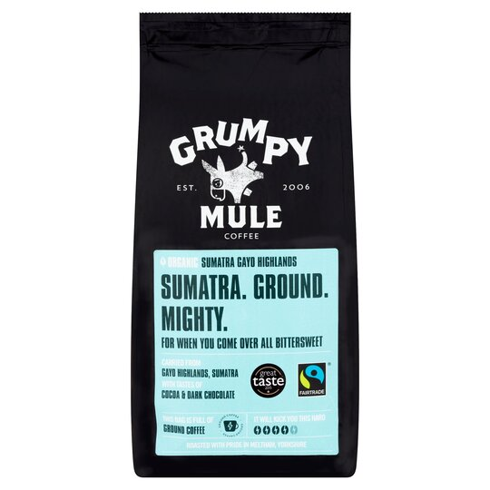 Grumpy Mule Organic Sumatra Ground Coffee 227G