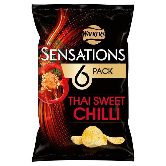 Walkers Sensations Thai Chilli 6X25g