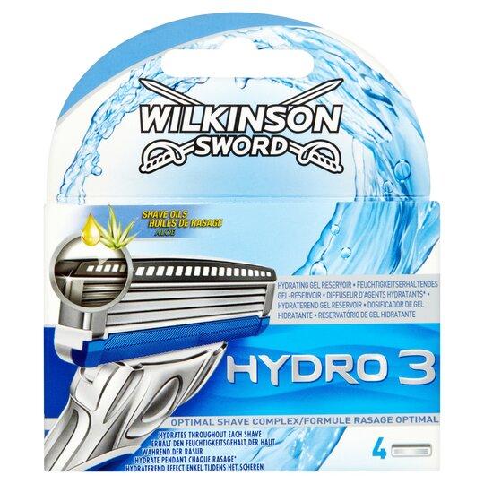 Wilkinson Sword Hydro 3 Razor Blades 4 Pack