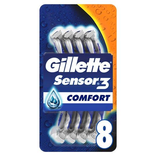 image 1 of Gillette Sensor 3 Disposable Razors 8 Pack