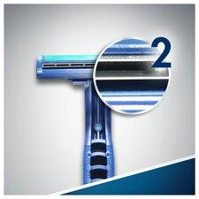 image 2 of Gillette Blue 2 Slalom Disposable Razors 8 Pack