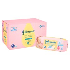 image 2 of Johnson's Baby Wipes Extra Sensitive 12 X 56 Pack