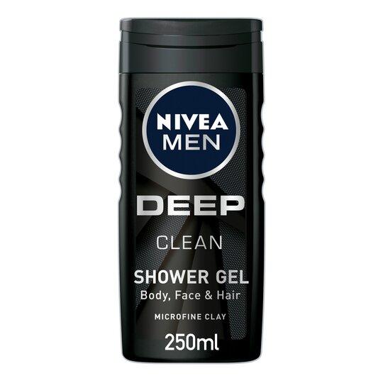 Nivea Men Shower Gel Deep Clean 250Ml