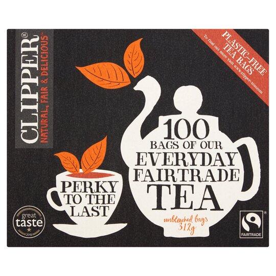 Clipper Everyday Fair Trade Tea 100 Bags 312G