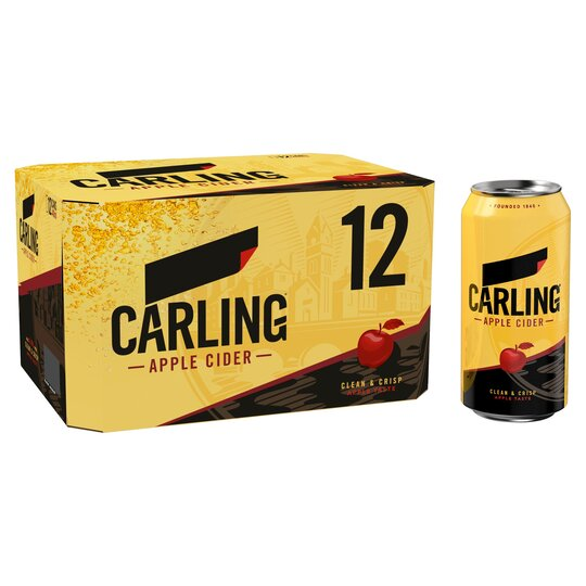 Carling Cider Apple 12X440ml - Tesco Groceries