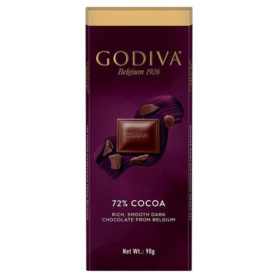 Godiva Belgium Dark Chocolate 72% Cocoa Bar 90G