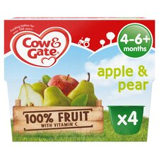 image 1 of Cow & Gate Apple & Pear Fruit Pot 4X100g 4 Mth+