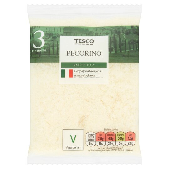 Tesco Grated Pecorino Cheese 50G