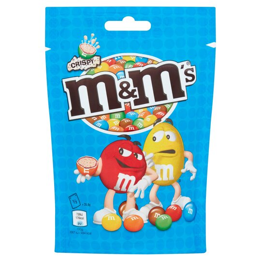 image 1 of M&M's Crispy Chocolate Pouch 107G