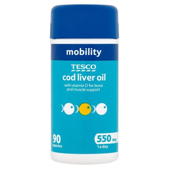 Tesco Cod Liver Oil 550Mg 90'S