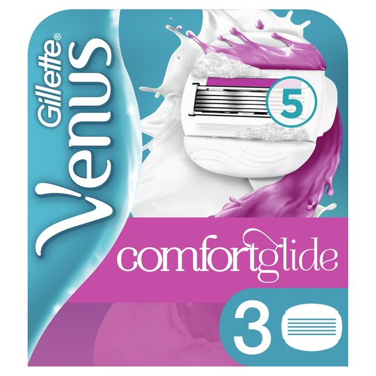 image 1 of Gillette Venus & Olay Berry Razor Blades Refill 3 Pack