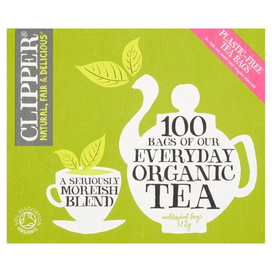 6cebb5f1a3f Clipper Organic Everyday Black Tea 100S 312G - Tesco Groceries