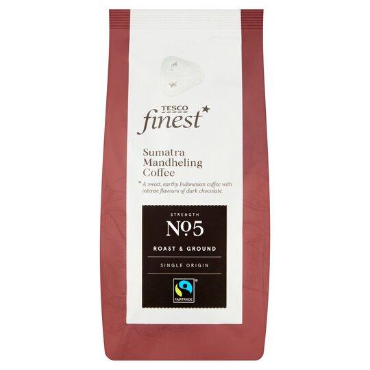 Tesco Finest Roast & Ground Coffee Sumatra Java Sumatra227g