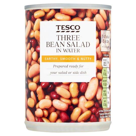 Tesco Wholefood Three Bean Salad In Water 400G