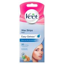 image 1 of Veet Facial Wax Strips Sensitive 20'S