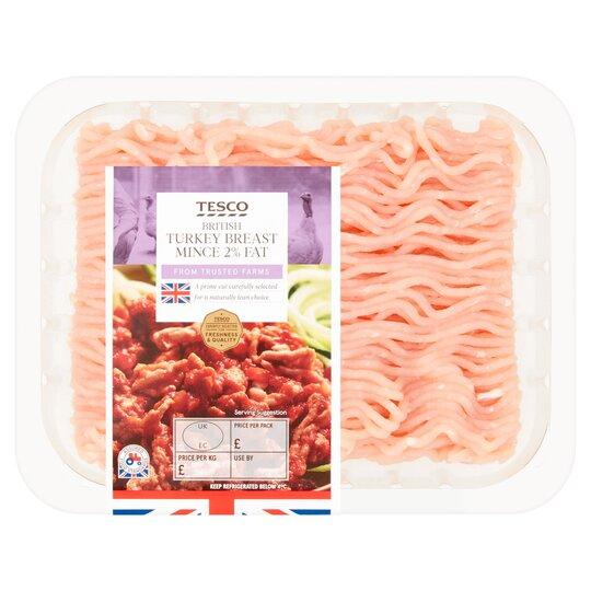 Tesco Turkey Breast Mince 2% Fat 250G - Tesco Groceries