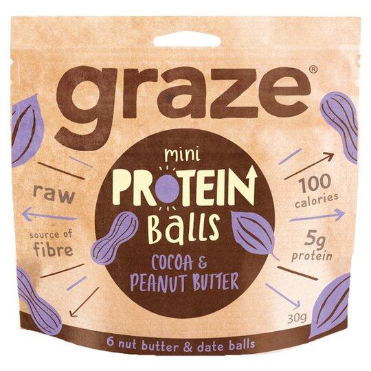 Graze Cocoa Peanut Butter Protect Balls 31G
