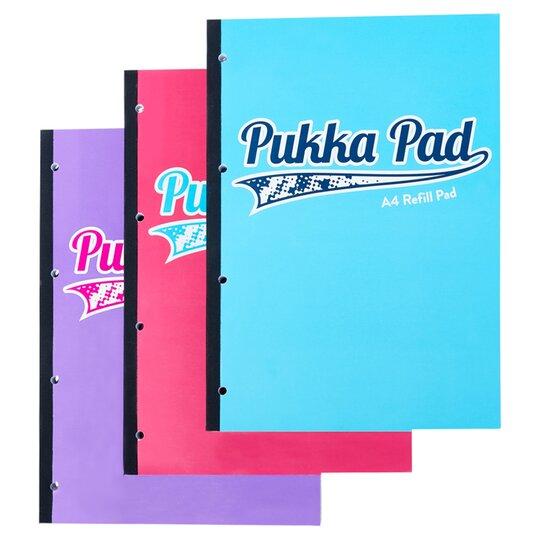Pukka A4 Refill Pad 200 Sheets Assorted