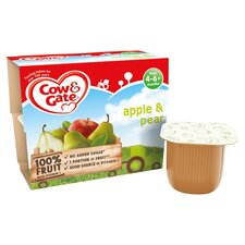 image 2 of Cow & Gate Apple & Pear Fruit Pot 4X100g 4 Mth+