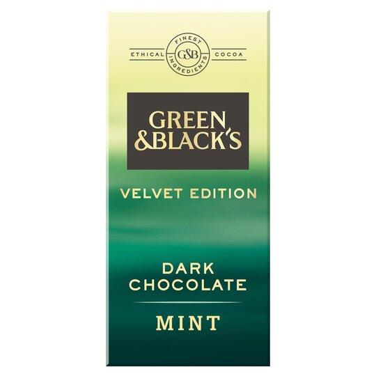 Green & Blacks Mint Dark Chocolate 90G