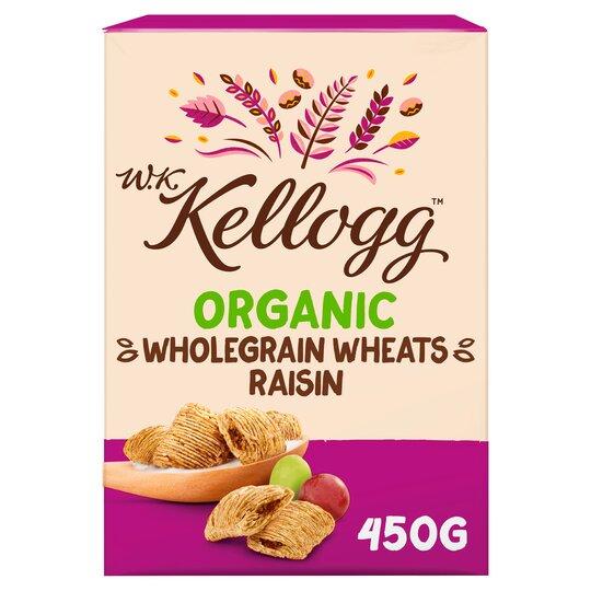 Kellogg Organic Raisin Wheat Cereal 450G