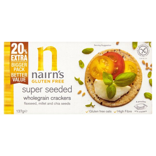 Nairns Gluten Free Seeded Crackers 137G