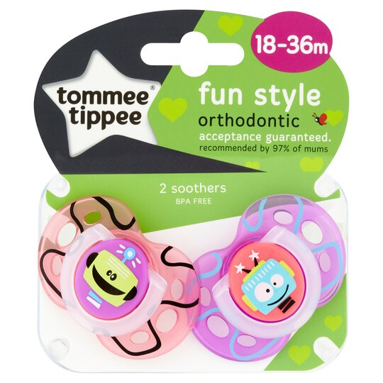 Tommee Tippee Closer To Nature 18-36M Fun Soothers 2 Pack