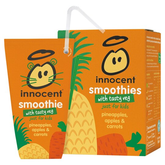 Innocent Pineapple Apple & Carrot Smoothie 4X180ml