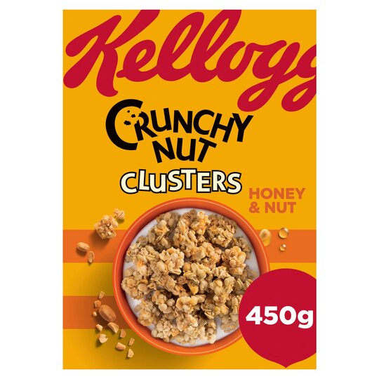Kellogg's Crunchy Nut Honey & Nut Clusters 450G