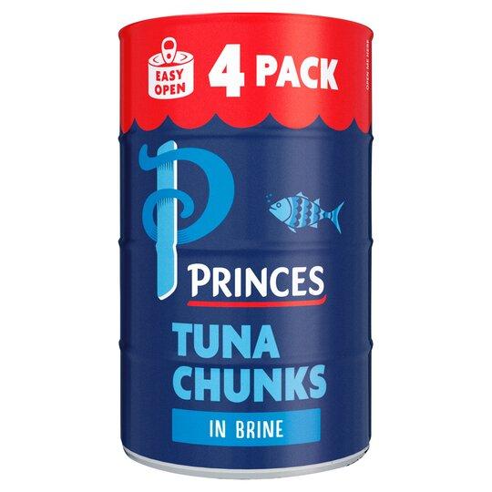 Princes Tuna Chunks In Brine 4X145g
