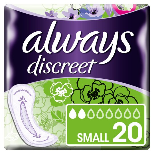 image 1 of Always Discreet Small Incontinence Pads 20 Pack