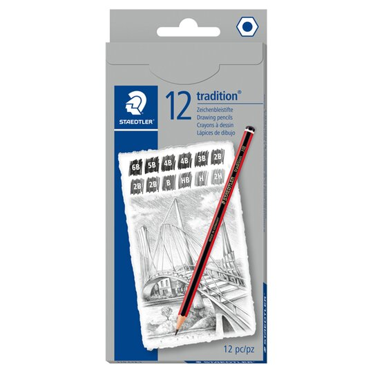 Staedtler Traditional 110 12 Sketching Pencils 2h Hb