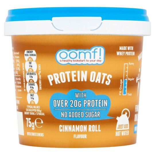 Oomf Protein Oats Cinnamon Roll 75G - Tesco Groceries