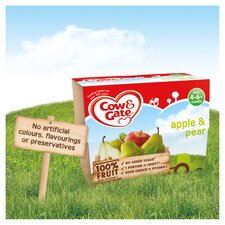 image 3 of Cow & Gate Apple & Pear Fruit Pot 4X100g 4 Mth+