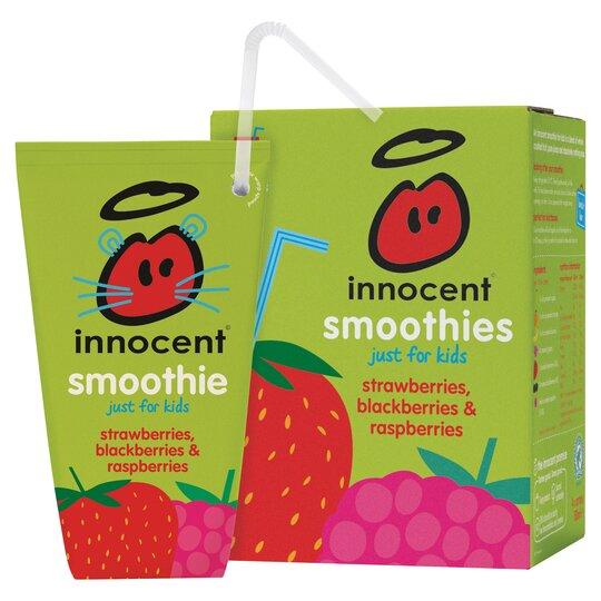 Innocent Kids Smoothie Strawberry And Raspberry 4X180ml