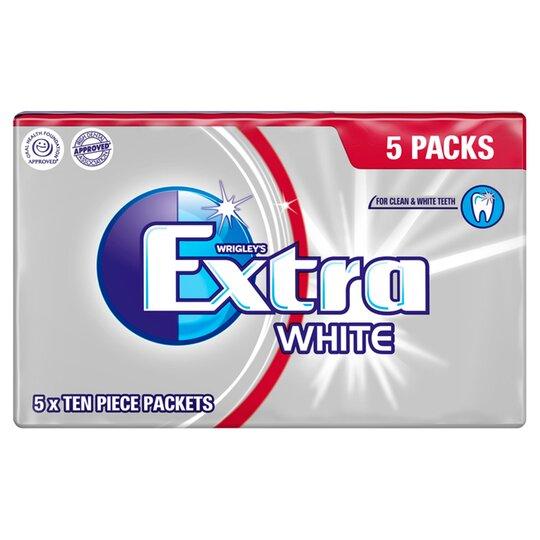Wrigleys Extra White Gum 5 Pack - Tesco Groceries