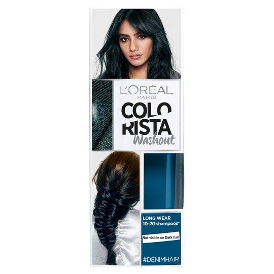 image 1 of Loreal Colorista Washout Denim Blue Semi-Permanent Hair Dye