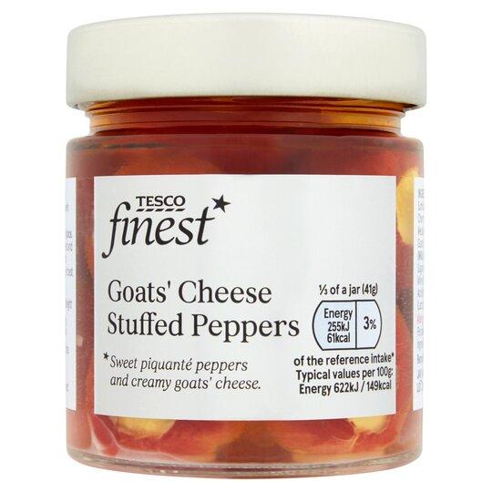 Tesco Finest Goats Cheese Stuffed Peppers 200G