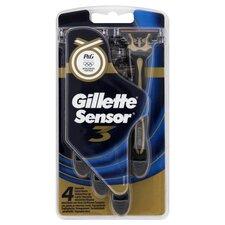 image 3 of Gillette Sensor3 Disposable Razors 4 Pack
