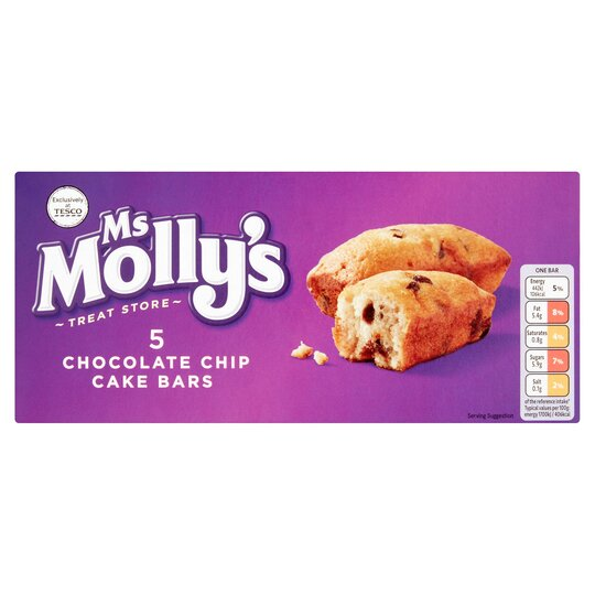 Ms Molly's Chocolate Chip Cake Bars 5 Pack