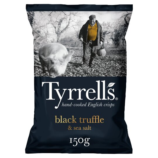 Tyrrells Black Truffle & Sea Salt 150G